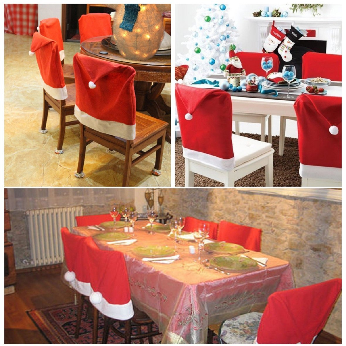 72137cf6dbce5 Buy Tonsee 6pcs Santa Red Hat Chair Covers Christmas Decorations Dinner  Chair Xmas Cap Sets in Cheap Price on m.alibaba.com