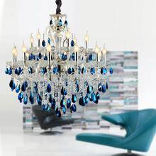 Modern Blue Crystal Chandelier, Modern Blue Crystal Chandelier ...