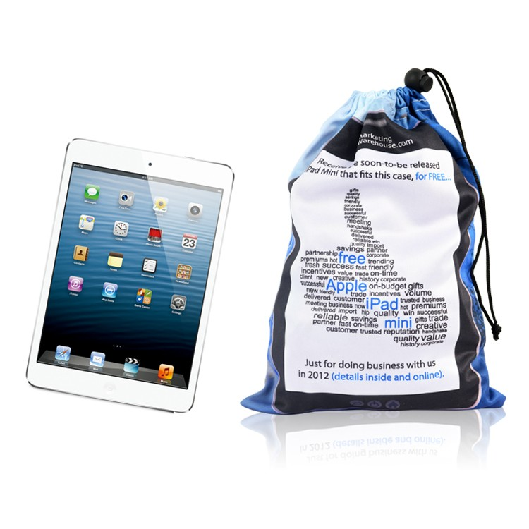 custom drawstring cotton cell phone bag