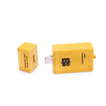 Shipping company promotion gift soft pvc material customized logo 8gb 3D shipping container shape usb flash drive