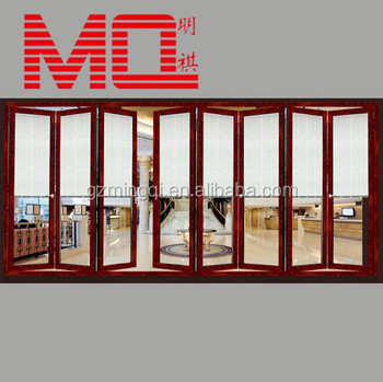 Wooden Color Exterior Aluminum Accordion Doors For Balcony MQ 241 Part 97