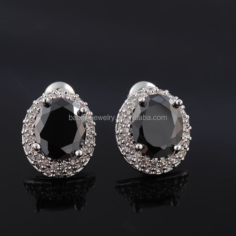 Platinum Plated CZ stud earring