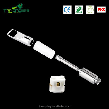 2017 most popular wickless vaporizer glass cartridge with ceramic coil glass container for thick oil