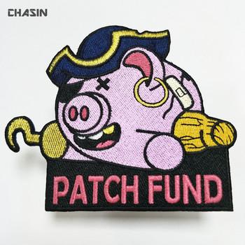 Grosir Kustom Hewan Babi Logo Bordir Patch Untuk Pakaian Buy