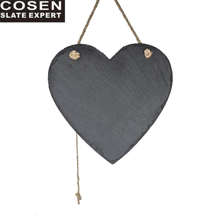 30% korting op eten Contact Slate Heart Shape Chalk Board