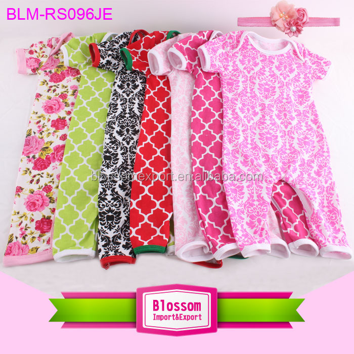 6861ba48a927 Summer baby romper jumpsuit print color binding short sleeve ...