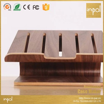 Universal notebooks heat dissipation wood laptop stand holder