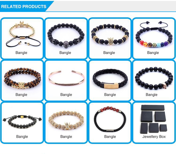 Wholesale Luxury Men's Magnetic Charm Men Jewelry Bracelet Leather Bracelet