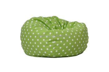 Hot Ing Living Room Decorative Small Furniture Polka Dot Design Green Bean Bag Corner Sofa Chair