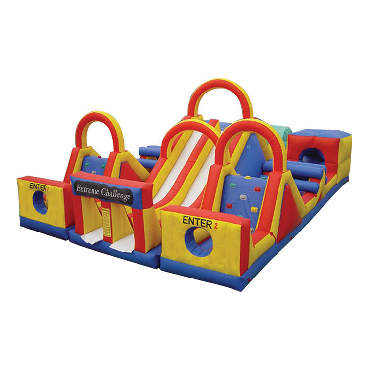 New product cheap inflatable obstacle course adult inflatable playground for amusement park