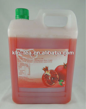 Pomegranate concentrated fruit juice for Taiwan bubble tea