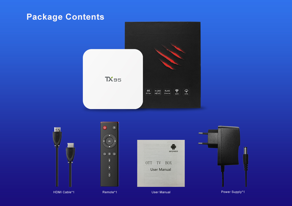 2017 más reciente TX95 Android 7,1 TV caja Amlogic S905W 4 K Android 7,0 Media Player tv Box TX95 acepta modificado logo