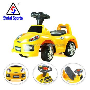 kids ride on push along sliding toy kids electronic carride along toys