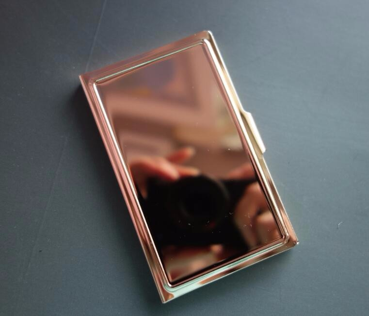 Stainless Steel Blank Rose Gold Plated Business Card Case For ...