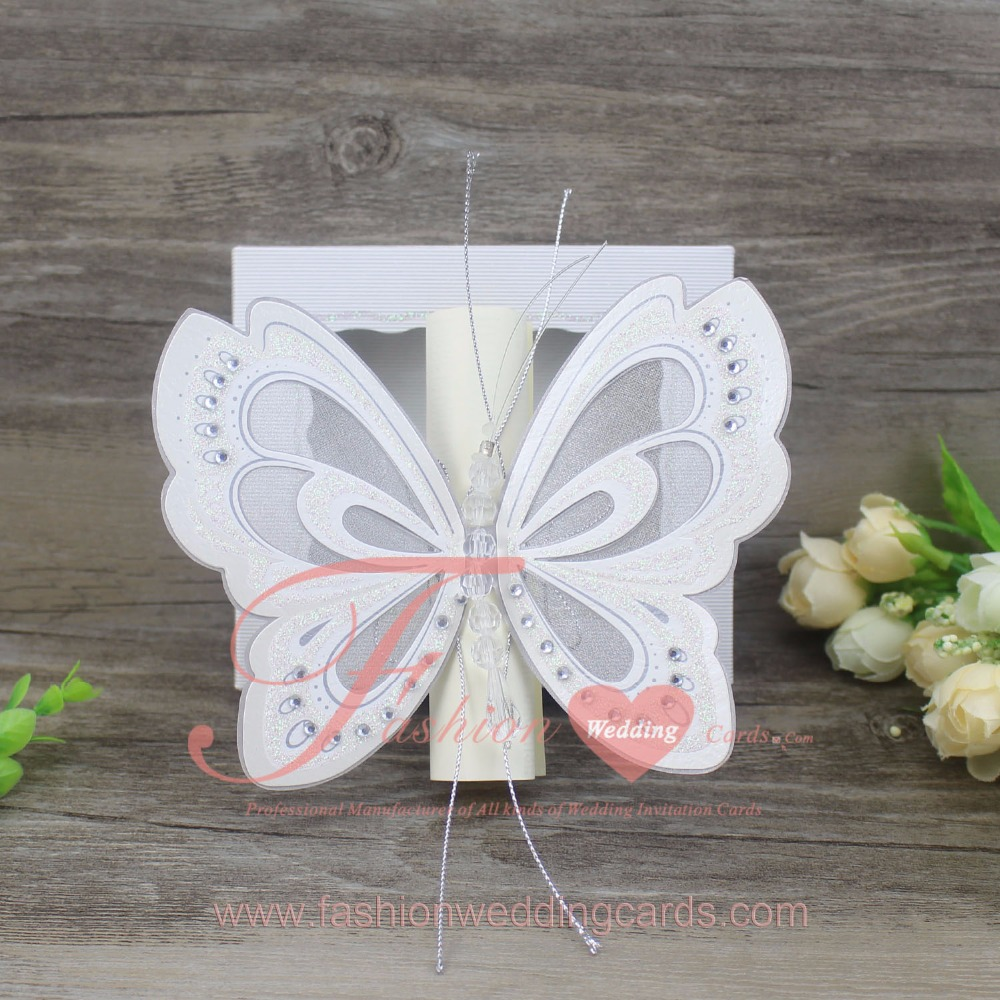 Butterfly Scroll Wedding Invitations, Butterfly Scroll Wedding ...