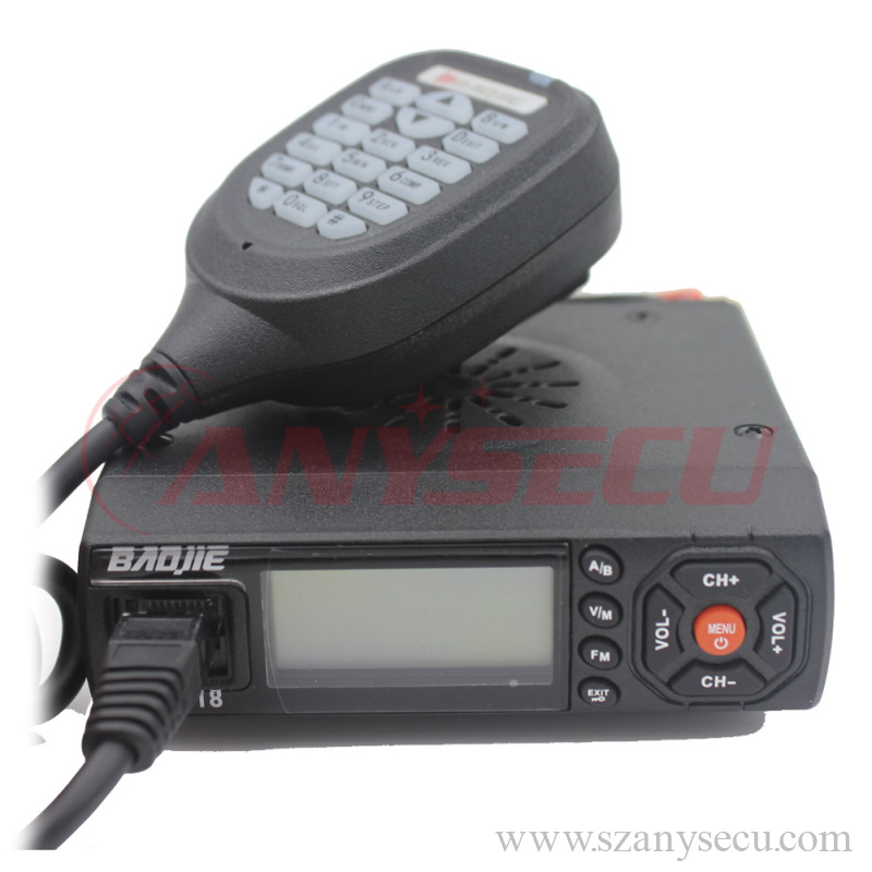 audio tour guide system BJ-218 136-174/400-470MHz dual band Super Mini Mobile Radio with factory price