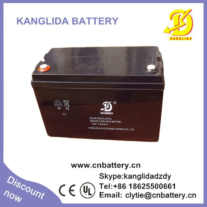 12 volt 100ah capacity rechargeable lead acid battery for solar panel
