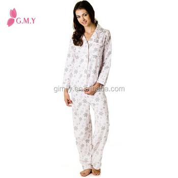 5f663637d771 women print Super Soft 100% Cotton pyjama turkey 2016 winter sleepwear set