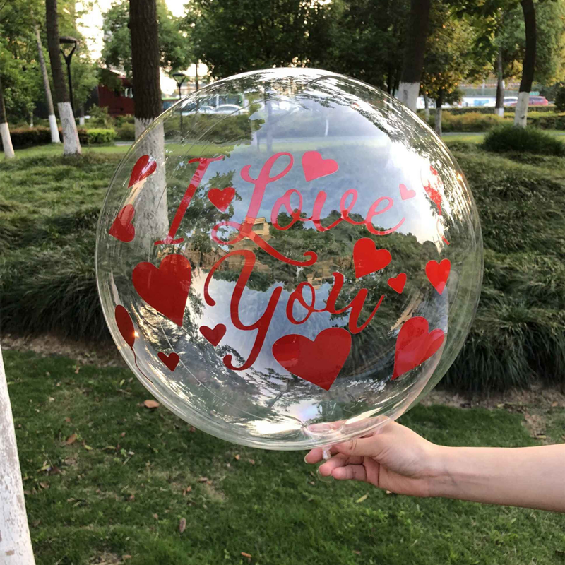 Clear Transparent Bubble Bobo Balloon With Letter Balloon