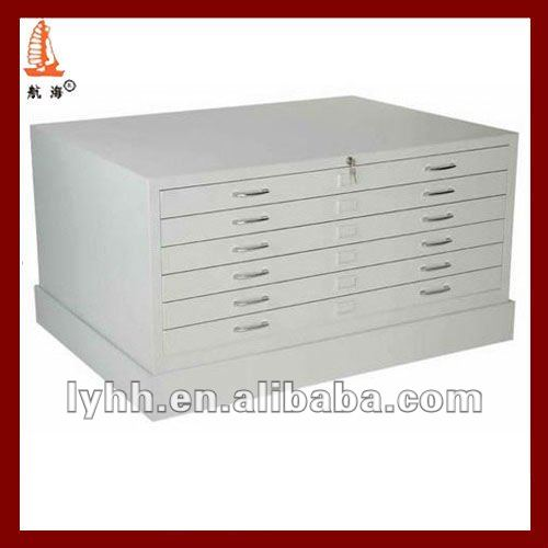 Office Metal Furniture A0 Drawing Storage Stacking Drawing Filing Cabinet With 6 Drawer