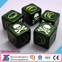 High quality plastic decision dice for playing game