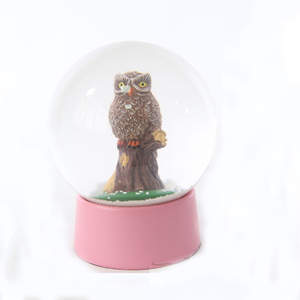 owl water snow globe customized direct factory