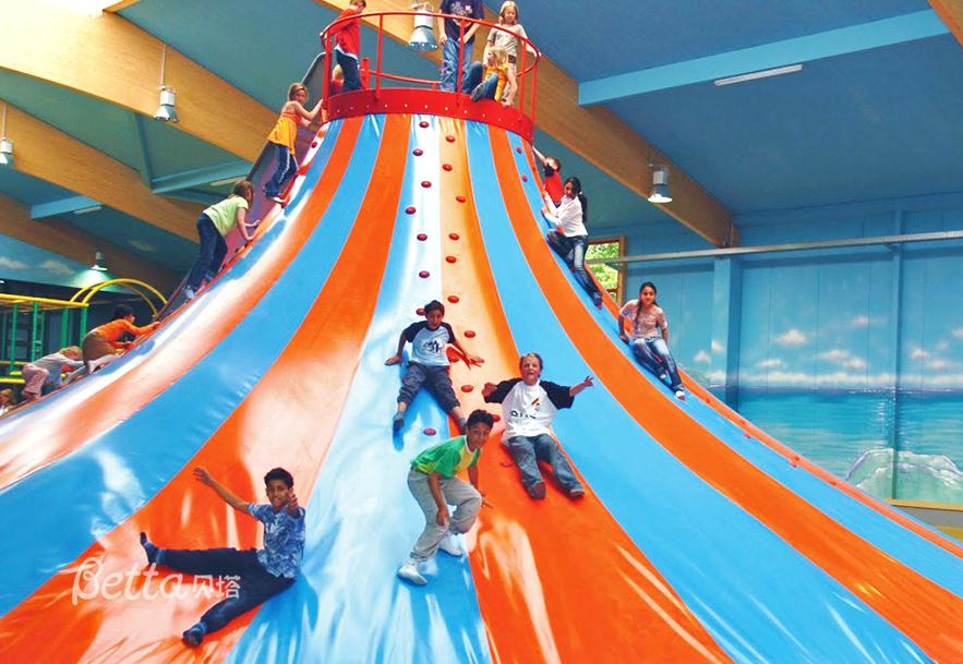 Colorful Climbing Equipment Volcano Indoor Playground