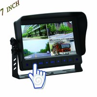 "Wholesale car 7"" 4 ch security lcd quad monitor for bus/truck"