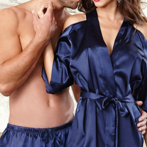 silk pajamas sleepwear for couple women and men suit japanese mature women sexy lingerie