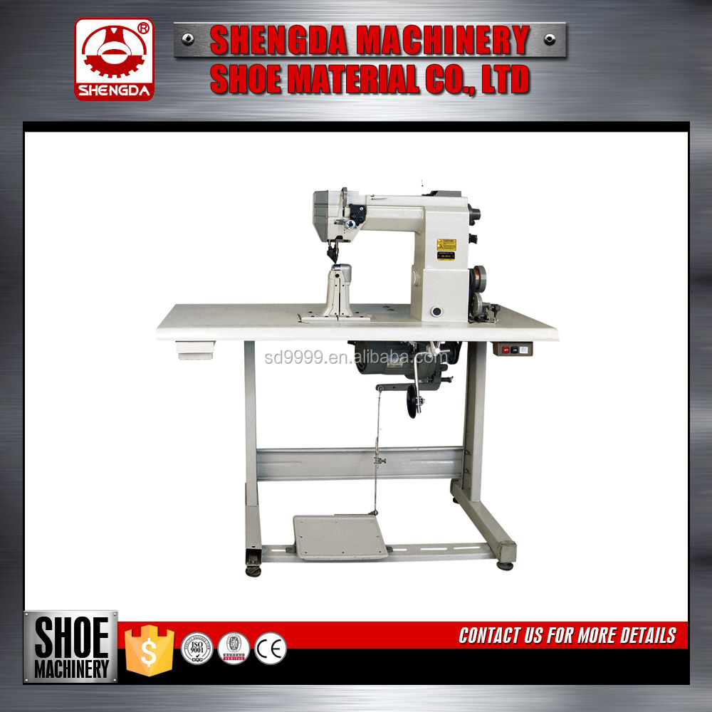 Double needle roller post-bed industrial sewing machine
