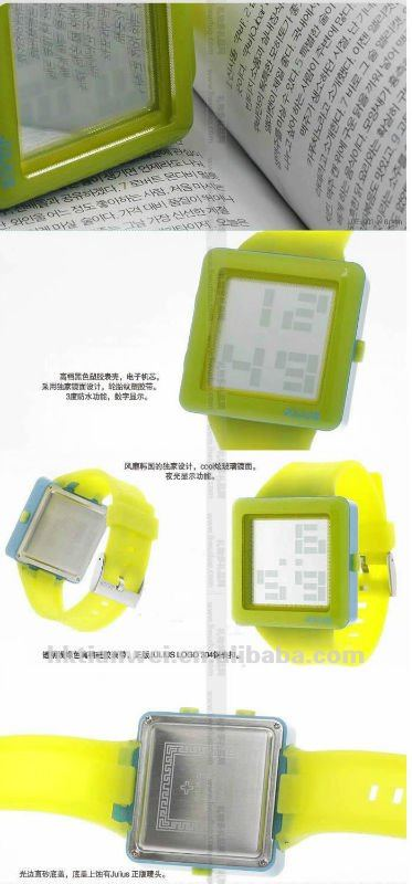 Top-recommend round silicone jelly watch with imprint logo