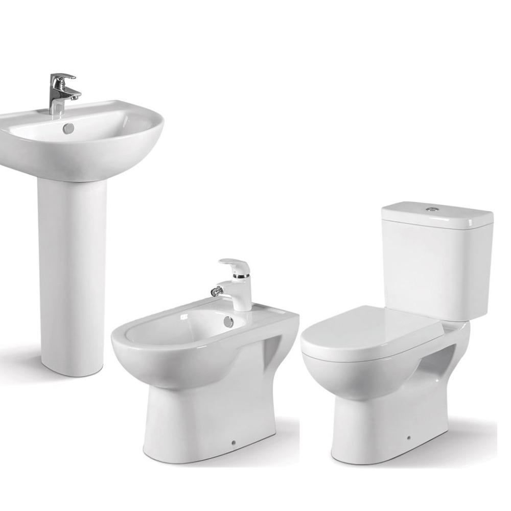 Sanitary Ware Toilet And Sink Bathroom