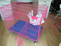 Cheap Cat House Product Big Foldable Wire Pet Cat Cage For Sale