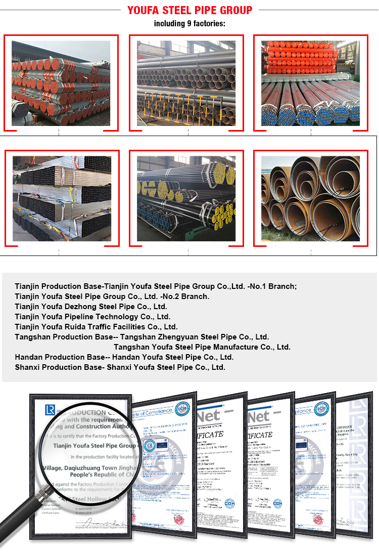 BS 1387 China factory carbon galvanized round steel pipe