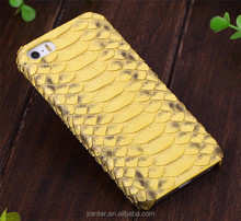 Commercio all'ingrosso di vendita calda di lusso python snakeskin caso per il iphone 6 plus, hard cover per iphone 6