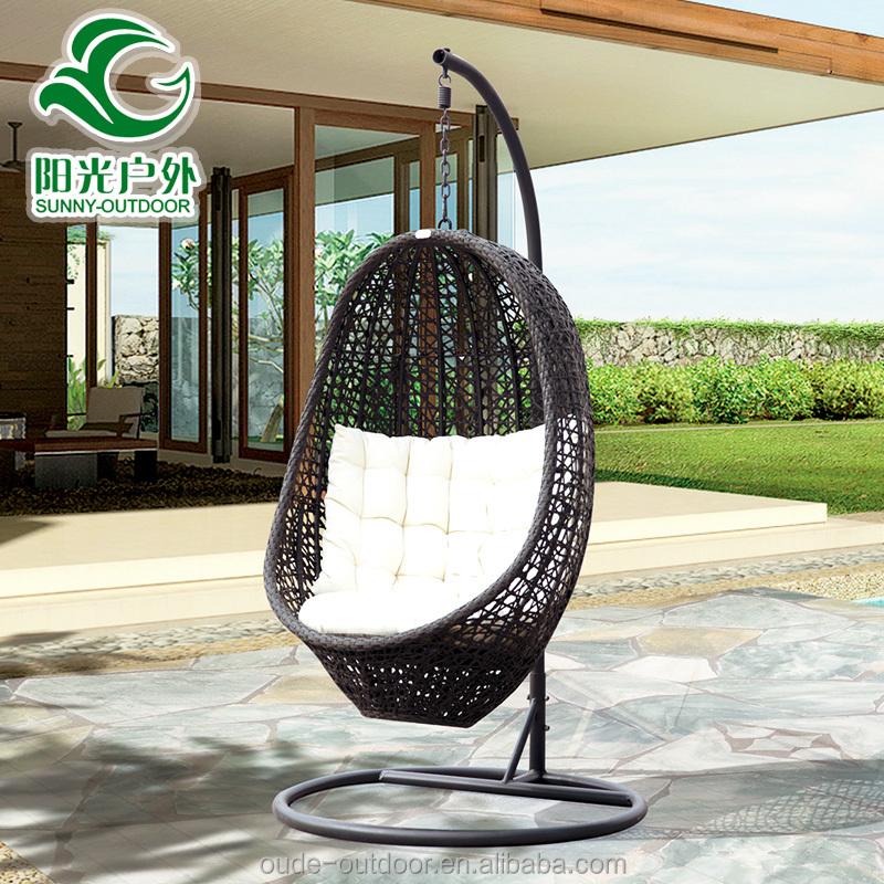 Jard n al aire libre oscilaci n de la rota colgando silla for Silla huevo precio