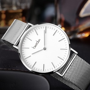 High quality minimalist japan movt quartz stainless steel watch water resistant