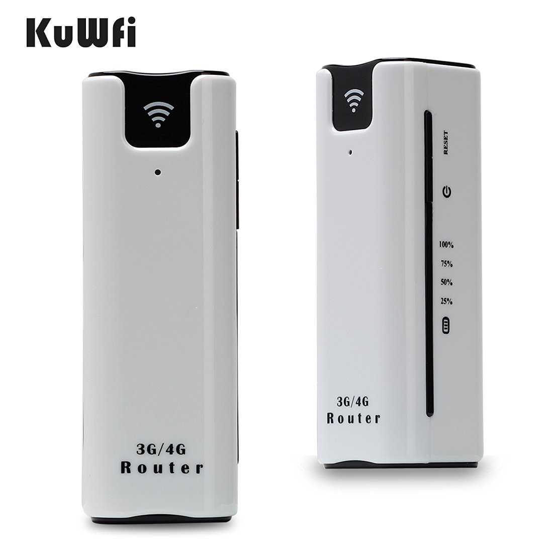 KuWFi Smart Moblie WIFI hotspot 3G router with sim card slot with Power Bank 2200Mah Portable WiFi 3G Wireless Router Support 2100MHZ network Power bank 3G wifi Router with SIM Card Sot