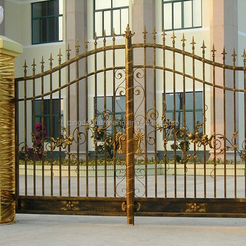Wrought Iron Door Steel Gate Double Park House Powder