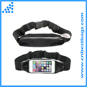 Touch Screen Large Capacity Size Adjustable Water Resistant Sweat Proof Earphone Hole Money Belt