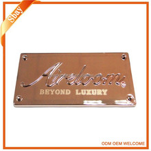 Custom metal logo plate for mk fashion handbags