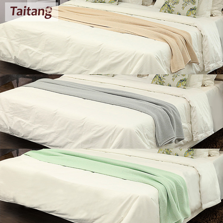 Wholesale Custom Solid Color Adult Cotton Towel Blanket