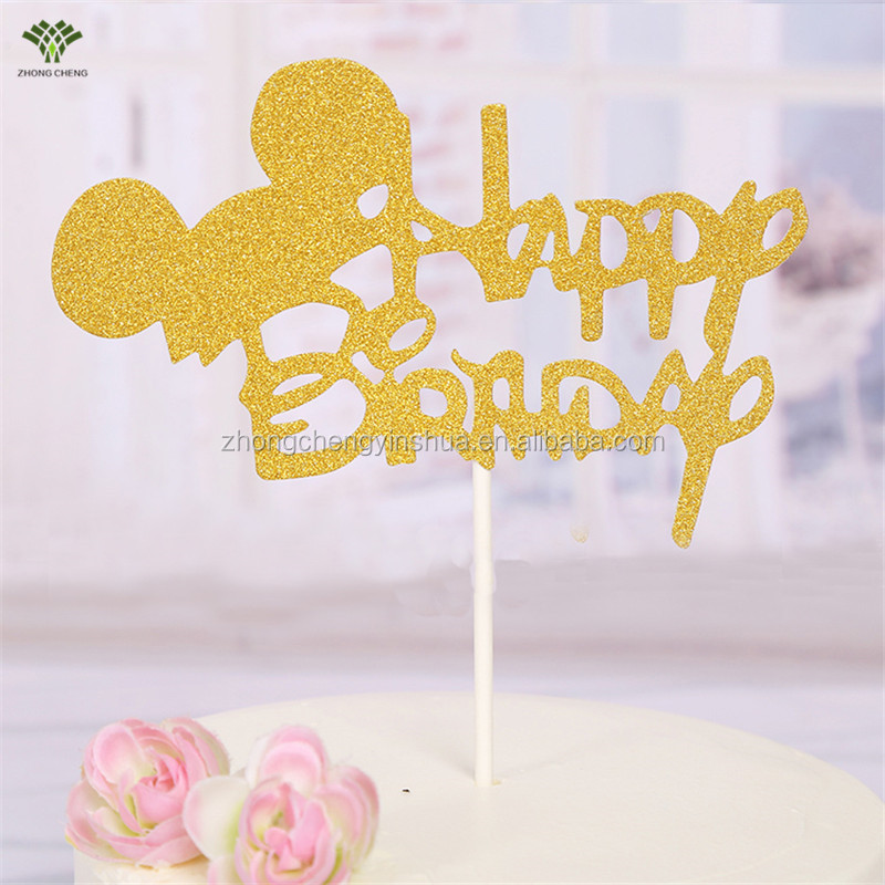 Happy Birthday cake Mickey Mouse cake topper birthday cake topper
