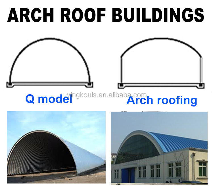 Low Cost Steel K Arch Building Structure Curved Roof Roll