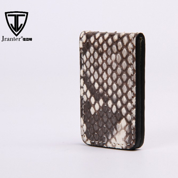 Jranter Premium Quality Python/Embossed Leather Magnetic Money Clip
