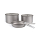 Outdoor Camping Titanium Cookware Sets 2 Pots and 1 Frying Pan
