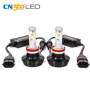 CN360 50W 2200K 6000k ZES Chips Low beam Led headlight bulb h7 h11 9006 with canbus