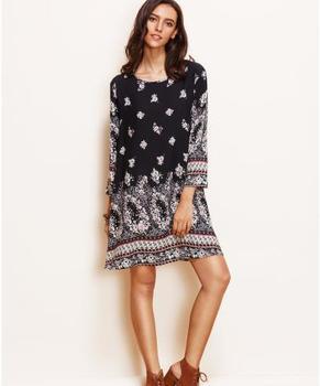 Fancy Dresses Casual New Trend Design Woman Lady Fashion Print Dress Designs Fat Las Latest