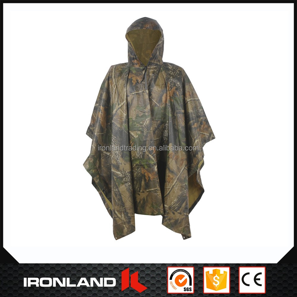 2017 fashionable wholesale high quality hooded rain cape poncho for adults