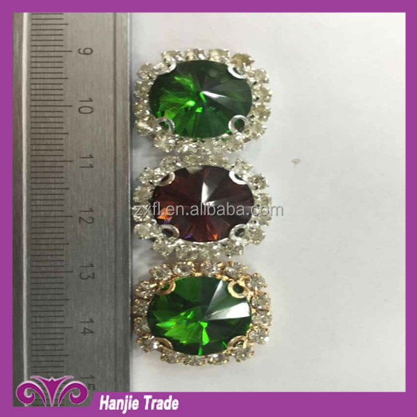fashion crystal point back acrylic and glass rhinestones sew on rhinestone stones